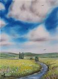 Картина, Знайома далечінь, 15х20 см. Живопис на полотні, фото №3