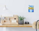 Картина, Дві хатини, 15х20 см. Живопис на полотні, фото №5