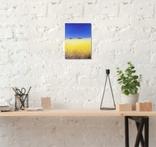 Картина, Сине небо жовте поле, 15х20 см. Живопис на полотні, фото №5