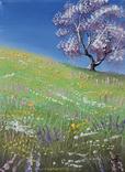 Картина, Весна, 15х20 см. Живопис на полотні, фото №3