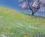 Картина, Весна, 15х20 см. Живопис на полотні, фото №4