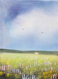Картина, М'які відтінки літа, 15х20 см. Живопис на полотні, фото №2
