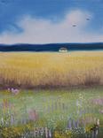 Картина, Український краєвид, 15х20 см. Живопис на полотні, фото №3