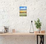 Картина, Український краєвид, 15х20 см. Живопис на полотні, фото №5
