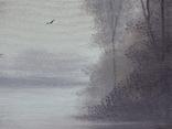 Картина, Туманний ранок, 15х20 см. Живопис на полотні, фото №4