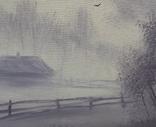 Картина, Ранок у селі, 15х20 см. Живопис на полотні, фото №4