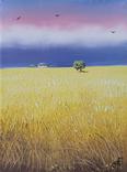 Картина, Золотистий урожай, 15х20 см. Живопис на полотні, фото №3