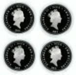 Набор монет Пираты Карибских морей, 4 х 1oz, фото №3
