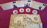 Набор монет Пираты Карибских морей, 4 х 1oz, фото №11
