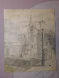 Андреевский спуск. Худ. Скляр А. Бумага, карандаш. Размер 30,5х37,5 см., фото №2