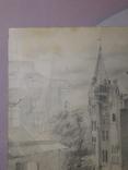 Андреевский спуск. Худ. Скляр А. Бумага, карандаш. Размер 30,5х37,5 см., фото №3