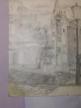Андреевский спуск. Худ. Скляр А. Бумага, карандаш. Размер 30,5х37,5 см., фото №5