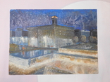 Дом профсоюза. Худ. Скляр А. Картон, масло. Размер 32,5х43,5 см., фото №2