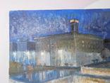 Дом профсоюза. Худ. Скляр А. Картон, масло. Размер 32,5х43,5 см., фото №3