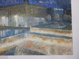 Дом профсоюза. Худ. Скляр А. Картон, масло. Размер 32,5х43,5 см., фото №6