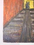 Тунель. Худ. Скляр А. Картон, масло. Размер 30х40 см., фото №5