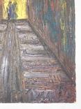 Тунель. Худ. Скляр А. Картон, масло. Размер 30х40 см., фото №6