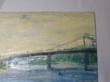 Пешеходный мост. Картон, масло. Размер 24,5х35 см., фото №4
