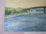 Пешеходный мост. Картон, масло. Размер 24,5х35 см., фото №5