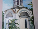Церковь. Фанера, масло. Размер 28,5х39,5 см., фото №5