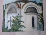 Церковь. Фанера, масло. Размер 28,5х39,5 см., фото №6