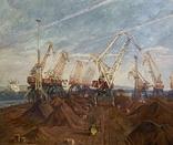 Выставочная работа Первый район Ильичевского порта Народный художник УССР, фото №3