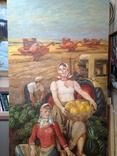 Картина СССР Сбор урожая 1972 г. Луцкевич Юрий Павлович (1934 2001), фото №5