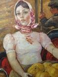 Картина СССР Сбор урожая 1972 г. Луцкевич Юрий Павлович (1934 2001), фото №7