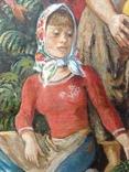 Картина СССР Сбор урожая 1972 г. Луцкевич Юрий Павлович (1934 2001), фото №8
