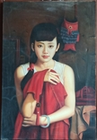 Юная китаянка. 90*60 см., фото №2