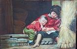 Мама с сыном. Китай. 90*60 см., фото №2