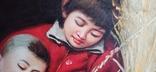 Мама с сыном. Китай. 90*60 см., фото №4