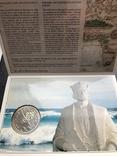 100 эскудо 1987 Португалия серебро Золотой век открытий - Диогу Кан, фото №3