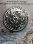 100 эскудо 1987 Португалия серебро Золотой век открытий - Диогу Кан, фото №4