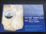 100 эскудо 1987 Португалия серебро Золотой век открытий - Нуну Триштан, фото №3