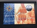 100 эскудо 1988 Португалия серебро Золотой век открытий - Открытие Канарских островов, фото №3