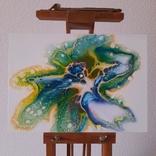 Картина/ живопис/ абстракція Fluid Art #59 acrylic, фото №6