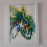 Картина/ живопис/ абстракція Fluid Art #59 acrylic, фото №7
