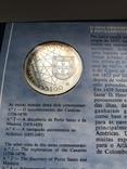 100 эскудо 1989 Португалия серебро Золотой век открытий - Открытие Азорских островов, фото №4