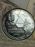 200 эскудо 1994 Португалия серебро 500 лет с разделения между Португалией и Испанией, фото №4