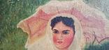 Женщина под зонтиком. Копия. 56*42 см., фото №4