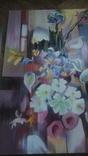 Цветы на фоне окна абстракция, фото №4