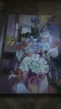 Цветы на фоне окна абстракция, фото №8