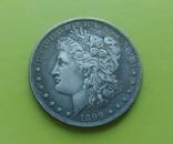 1 доллар 1899 г. S Morgan США (копія), фото №2