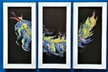 Картина/триптих/ живопис/ абстракція Fluid Art #63 acrylic, фото №2