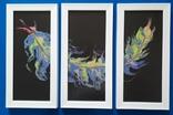 Картина/триптих/ живопис/ абстракція Fluid Art #63 acrylic, фото №9