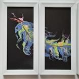 Картина/триптих/ живопис/ абстракція Fluid Art #63 acrylic, фото №11