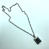 Кулон с камнем Раухтопаз на цепочке серебро, фото №3
