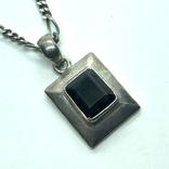 Кулон с камнем Раухтопаз на цепочке серебро, фото №4