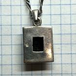 Кулон с камнем Раухтопаз на цепочке серебро, фото №6